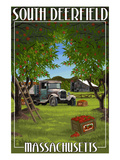 South Deerfield, Massachusetts - Apple Orchard Harvest Print by  Lantern Press