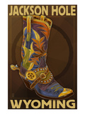 Boot - Jackson Hole, Wyoming Prints by Lantern Press