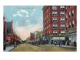 Battle Creek, Michigan - East View Down Main Street Prints by Lantern Press