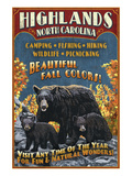 Highlands, North Carolina - Bear Family Posters by Lantern Press 