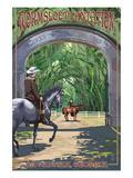 Savannah, Georgia - Wormsloe Plantation Prints by  Lantern Press