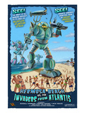 Hermosa Beach, California - Atlantean Invaders Posters by  Lantern Press