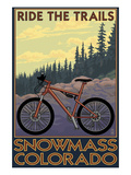 Snowmass, Colorado - Mountain Bike Art by  Lantern Press