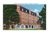 Knoxville, Tennessee - University of Tennessee, Exterior View of Sophronia Strong Hall Poster by  Lantern Press