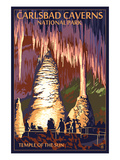 Carlsbad Caverns National Park, New Mexico - Temple of the Sun Kunstdrucke von  Lantern Press