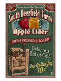 South Deerfield, Massachusetts - Apple Cider Prints by Lantern Press