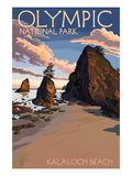 Kalaloch Beach - Olympic National Park, Washington Poster von  Lantern Press