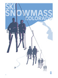 Snowmass, Colorado - Ski Lift Art by Lantern Press