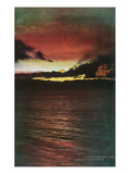 Lake Tahoe, California - Glenbrook, Sunset Scene on the Lake Prints by  Lantern Press