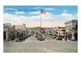 Hermosa Beach, California - View of Pier Avenue Kunstdrucke von  Lantern Press