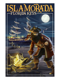 Islamorada, Florida Keys - Pirate and Treasure Prints by  Lantern Press