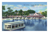 Silver Springs, Florida - Boat Landing Scene Posters by  Lantern Press