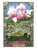 Dade City, Florida - Magnolias Prints by  Lantern Press