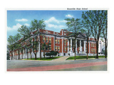 Knoxville, Tennessee - Exterior View of Knoxville High School Prints by  Lantern Press
