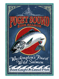 Bellingham, Washington - Salmon Poster by  Lantern Press