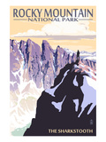The Sharkstooth - Rocky Mountain National Park Prints by  Lantern Press