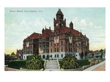 Los Angeles, California - Exterior View of the Court House Prints by  Lantern Press