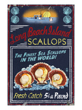 Long Beach Island, New Jersey - Scallops Plakater af  Lantern Press