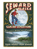 Seward, Alaska - Glacier Tours Print by  Lantern Press
