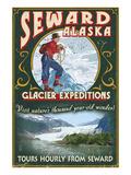 Seward, Alaska - Glacier Tours Print by  Lantern Press