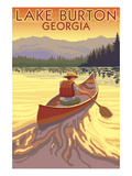 Lake Burton, Georgia - Canoe Sunset Prints by  Lantern Press