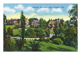 Knoxville, Tennessee - View of Beautiful Homes Along Kingston Pike Print by  Lantern Press