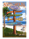Pawleys Island, South Carolina - Sign Destinations Prints by  Lantern Press