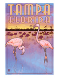 Tampa, Florida - Flamingos Posters by  Lantern Press