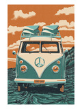 VW Van Poster by Lantern Press
