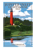 Jupiter Inlet Lighthouse - Jupiter, Florida Posters by Lantern Press 