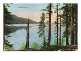 Lake Tahoe, California - View of Fallen Leaf Lake Poster von  Lantern Press