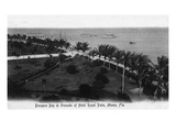 Miami, Florida - Royal Palm Hotel Grounds and Biscayne Bay View Poster von  Lantern Press