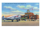 Nashville, Tennessee - Planes Landed on Berry Field Prints by  Lantern Press