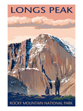 Longs Peak - Rocky Mountain National Park Poster von  Lantern Press