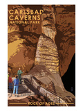 Carlsbad Caverns National Park, New Mexico - Rock of Ages Poster by  Lantern Press