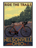 Nelsonville, Ohio - Ride the Trails Art by  Lantern Press