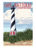 Cape Hatteras Lighthouse - Outer Banks, North Carolina Art by  Lantern Press