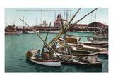 San Francisco, California - North Beach, View of Italian Fishing Boats Prints by  Lantern Press