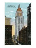 Cincinnati, Ohio - Union Central Life Insurance Co Building Exterior from Vine St Prints by  Lantern Press