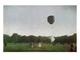 Sioux City, Iowa - Riverside Park, Balloon Ascension Scene Posters by  Lantern Press