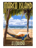 Marco Island, Florida - Hammock Scene Prints by  Lantern Press