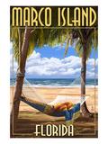 Marco Island, Florida - Hammock Scene Prints by  Lantern Press