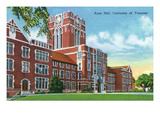 Knoxville, Tennessee - University of Tennessee, Exterior View of Ayres Hall Posters by  Lantern Press