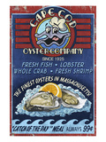 Cape Cod, Massachusetts - Oyster Bar Art by  Lantern Press
