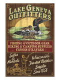 Lake Geneva, Wisconsin - Loon Outfitters Poster par Lantern Press