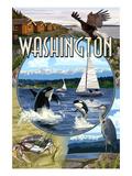 Washington - Montage Prints by  Lantern Press