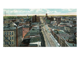 Rochester, New York - Western Aerial View Prints by  Lantern Press