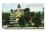 Glendale, California - Exterior View of the Sanitarium Poster by  Lantern Press