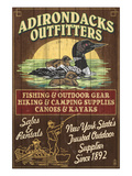 The Adirondacks, New York State - Outfitters Loon Posters by  Lantern Press