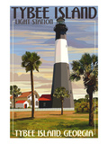 Tybee Island Light Station, Georgia Affiches par  Lantern Press